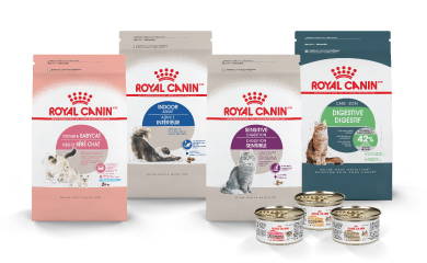 Feline Butrition Food Bags and Cans