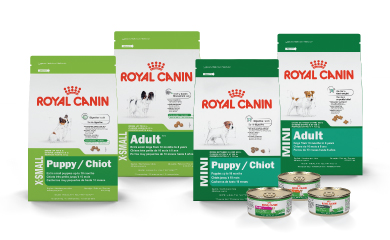 Canine Nutrition Food Bags and Cans