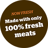 Now Fresh Made with only 100% fresh meats