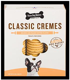 Three Dog Bakery Classic Cremes Dog Treats