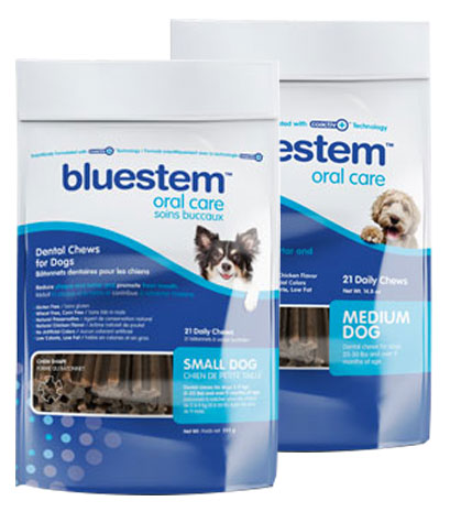 bluestem Dental Chews for Medium and Small dogs