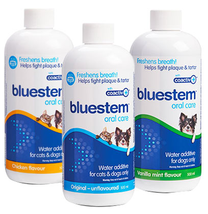 bluestem Water Additive Chicken flavour, Original flavour, and Vanilla Mint flavour