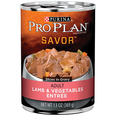 Savor Adult Lamb & Vegetables Entree Slices in Gravy