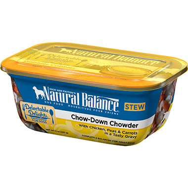 Delectable Delights Chow-Down Chowder Container Dog Stew