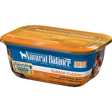Delectable Delights Gobble Cobbler Container Dog Stew