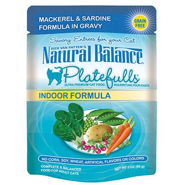 Platefulls Indoor Mackerel & Sardine Formula in Gravy Pouch