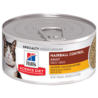Adult Hairball Control Savory Chicken Entree Minced