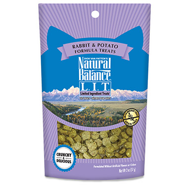 L.I.T. Limited Ingredient Treats Rabbit & Potato Formula Crunchy Cat Treats