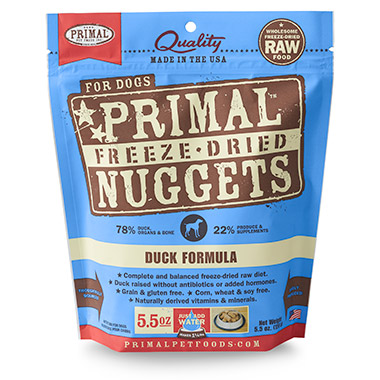 Freeze Dried Nuggets Duck Formula