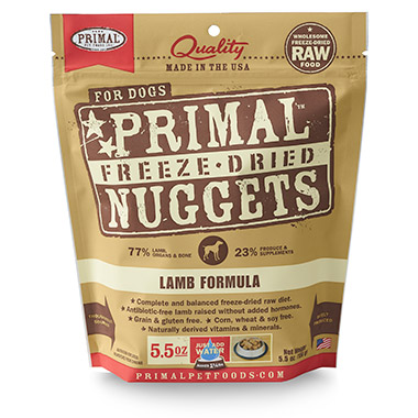 Freeze Dried Nuggets Lamb Formula