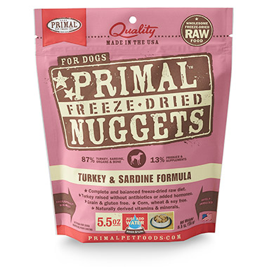 Freeze Dried Nuggets Turkey & Sardine Formula