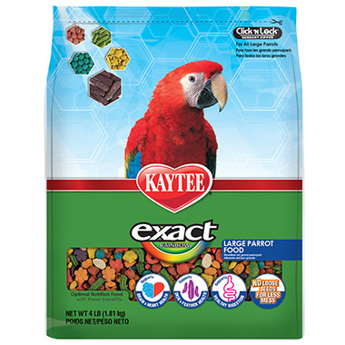 Exact Rainbow Chunky Large Parrot Food