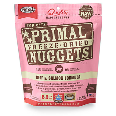 Freeze Dried Nuggets Beef & Salmon Formula