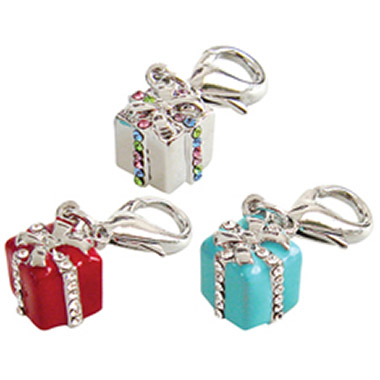 Crystal D-Ring Giftbox Charm Assorted Colours