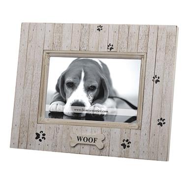 Woof Distressed Wood Pet Frame | 49861 | Pet Valu