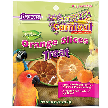 Tropical Carnival Natural Orange Slices Pet Bird Treat
