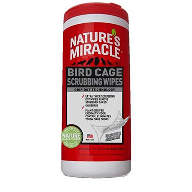 Bird Cage Scrubbing Wipes