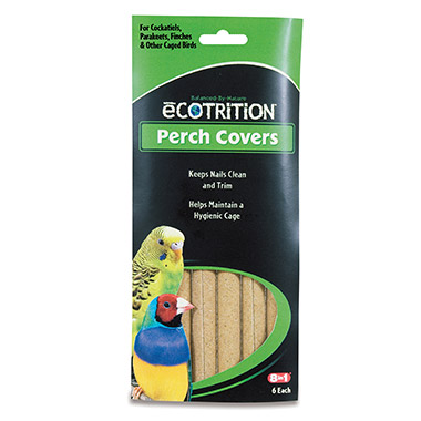 Perch Covers for Cockatiels, Parakeets, Finches & Other Caged Birds