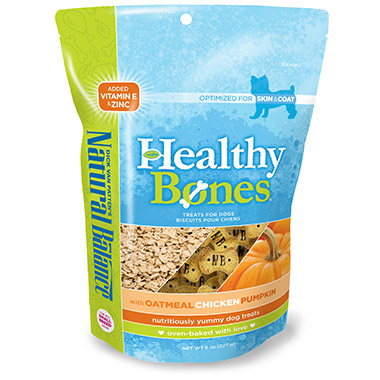 Healthy Bones With Oatmeal, Chicken & Pumpkin