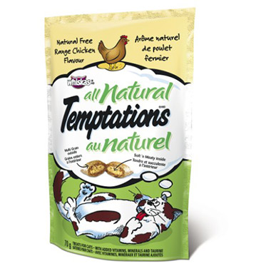 Temptations All Natural Free Range Chicken Flavour