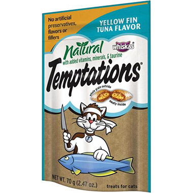 Temptations All Natural Yellow Fin Tuna Flavour