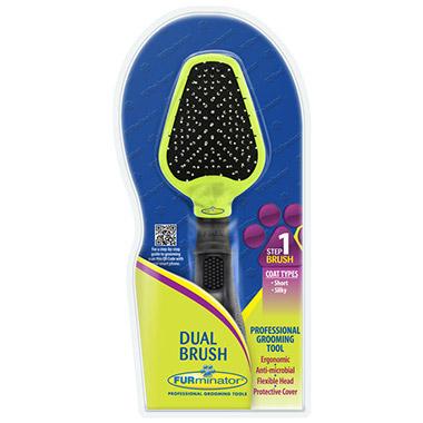 Dual Pin and Bristle Brush