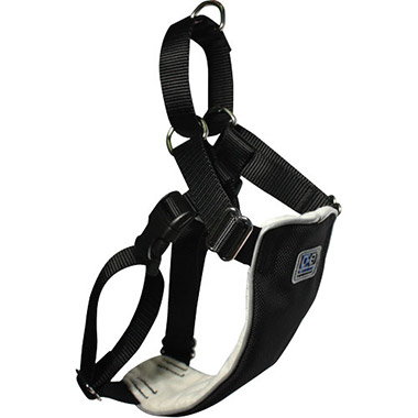 Canine Equipment No-Pull Nylon Reflective Dog Harness - Black