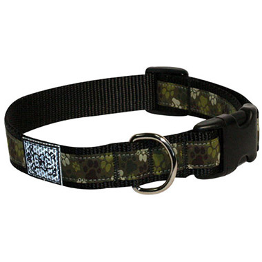 Adjustable Nylon Dog Clip Collar - Pitter Patter Camo