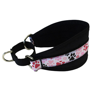 Hound Nylon Fleece-Lined Dog Collar - Pitter Patter Pink