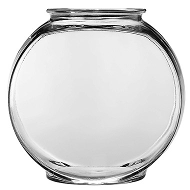 Glass Drum Fish Bowl