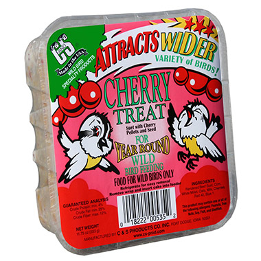 Cherry Treat Suet Cake