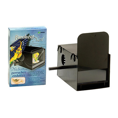 Parakeet Nest Box Black