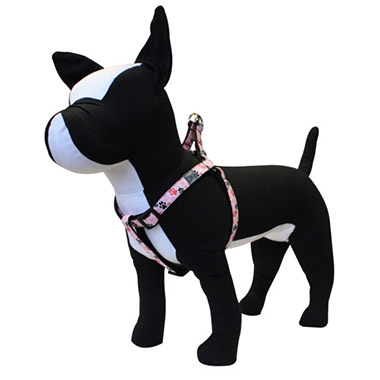 Adjustable Nylon Step-In Dog Harness - Pitter Patter Pink