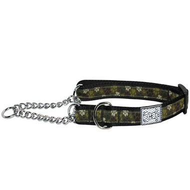 Adjustable Nylon Dog Training Collar - Pitter Patter Camo