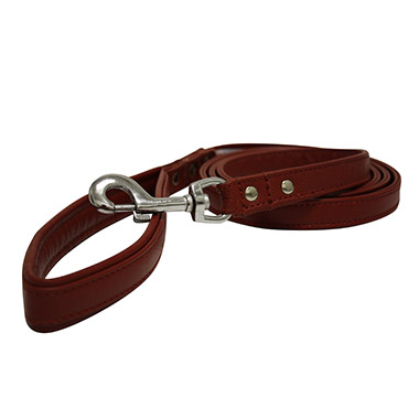 Aspen Leather Leash - Red