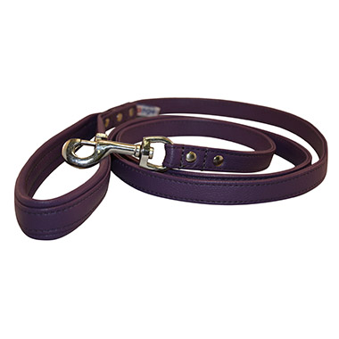 Aspen Leather Leash - Purple