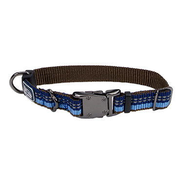 Reflective Nylon Adjustable Dog Collar - Sapphire