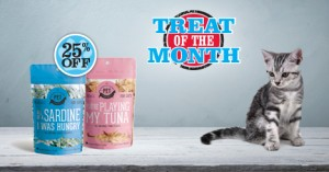 Treat of the Month &#8211; Save 25%<br /> The Granville Island Pet Treatery Cat Treats